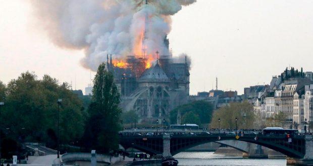 Famed Notre Dame on fire ooduarere.com