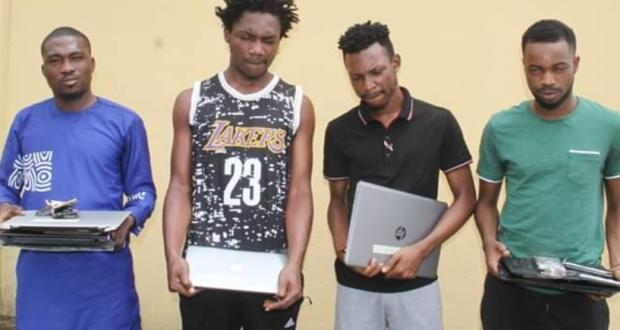 EFCC Nabbed 4 Internet Suspected Fraudsters In Lagos