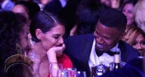 Jamie Foxx and Katie Holmes. PHOTO Glamour