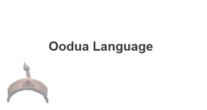 Oodua language
