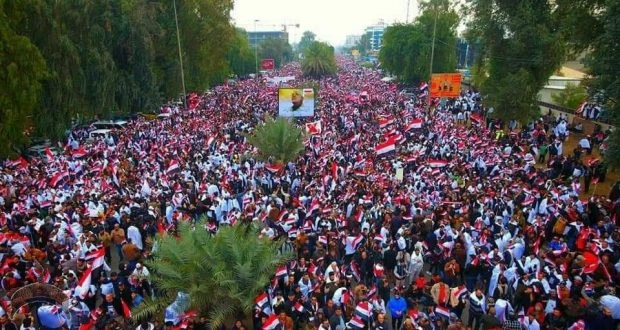 While no official number has been released, the march itself is likely one of the largest in the history of Iraq.