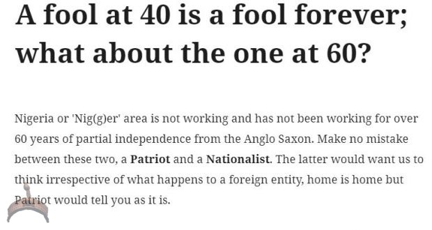 A fool at 40 is a fool forever; what about the one at 60?