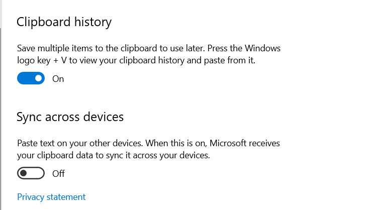 delete your clipboard history