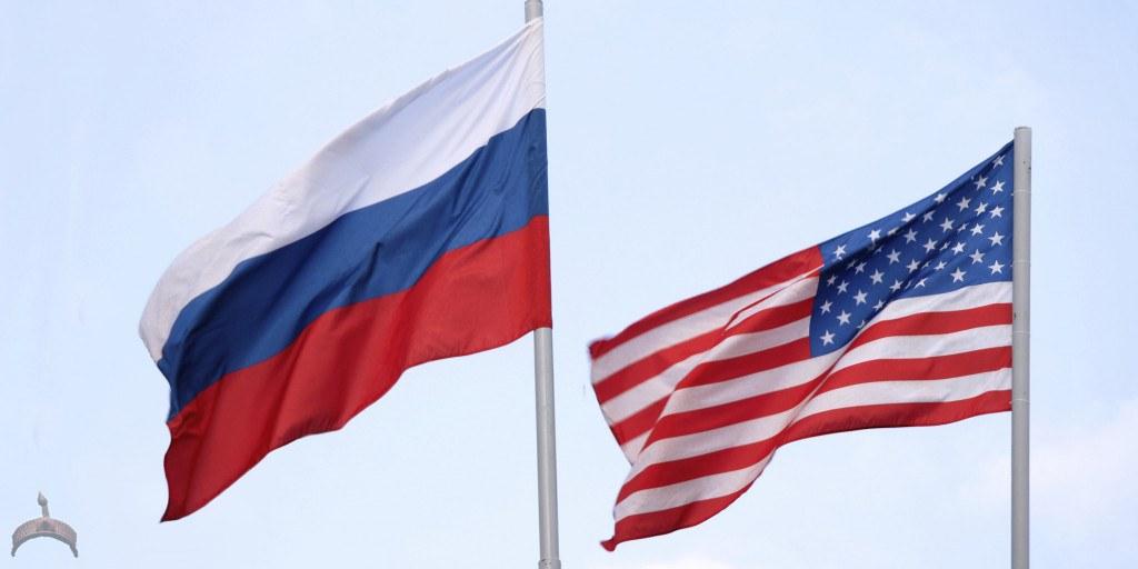 U.S Russian flag