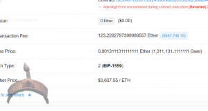 Failed Ethereum Transaction